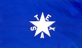 First Flag of the Republic De Zavala Flag 1836